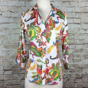 Ralph Lauren Colorful Botanical Print Button Down